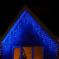 Multi-Action LED Xmas Christmas Icicle Fairy Lights Party Wedding String Lights