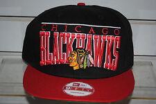 CHICAGO BLACKHAWKS le arch NHL hockey cap New Era Snapback VINTAGE RARE