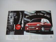 advertising Pubblicità 1993 RENAULT CLIO RSi