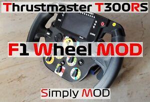 Thrustmaster T300RS standard to modern F1 Steering Wheel - Simply MOD Wheel
