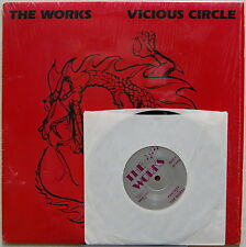 """THE WORKS Vicious Circle + Fantasy 45 7"""" IN SHRINK 1986 LP Private AOR Rock"""