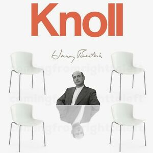 4 Knoll Bertoia Side Chair Stacking Shell Lounge DWR saarinen EAMES MCM Lot $2k