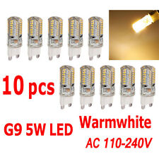 10 x G9 5W LED 3014 64SMD Spotlight Lamp Bulb Replace Halogen Warmwhite 110-240V