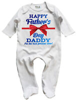Dirty Fingers, Happy Father's Day Daddy, best present, Baby, Sleepsuit