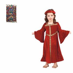 BAMBINO Povera Ragazza Tudor Medievale Costume Vestito Età 7-12 anni