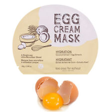 K-Beauty Too Cool for School Egg Cream Hydration Face Mask Sheet Pack 5pcs