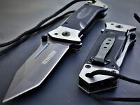 TANTO BLADE KNIFE Military Grade G-10 HEAVY DUTY Spring Assisted Tactical Rescue