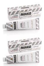 Proraso Shaving Cream TWIN PACK Sensitive Skin White Tube 150ml