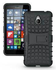 Black Strong Heavy Duty Durable Tradesman TPU Case Cover For Nokia Lumia 640 XL