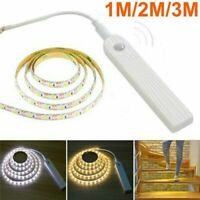3M LED Strip Light Strip Motion Sensor Cabinet Closet Wardrobe Battery Operated