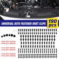 Kit 190pcs Rivets Clips Plastique Fixation Plastique Grille Pare-chocs Voiture