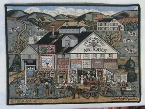 Charles Wysocki tapestry picture vintage 1985 17x12.5 Peppercricket Farms