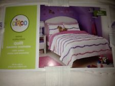 Nwt! Circo Wave Collection Comforter Quilt - Full Queen - Pink Purple Ribbons