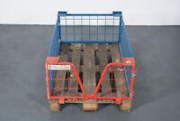 Gitterbox 12er SET Paletten Gitteraufsatzrahmen stapelbar Stapelbox 120x80x40cm