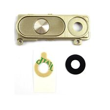 Camera Glass Lens Cover Frame Holder Back Button Replacement for LG G3 Gold