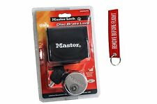 Master disk lock motorcycle brake safety security key keychain dirt bike cruiser
