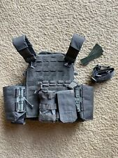 First Spear Acc Plate Carrier Manatee Grey Medium With 5.11 Pouch