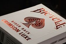 1 DECK Bicycle Metalluxe Crimson Luxe (red) playing cards FREE USA SHIP!