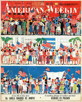 4th of JULY! American Weekly 1955 BABIES IN PRISON Madman's Gold ROMPERS Riggs