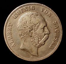 Kgr. Sachsen, 5 Mark 1876 E