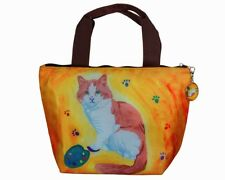 Cat Lunch Bag Tote by Salvador Kitti - Yes, Salvador Really Does Paint!!