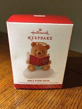 HALLMARK Keepsake Christmas Tree Ornament Bible Story Teddy Bear Angel on Cloud