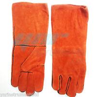 YNR® Snake Catcher Gloves Reptile Lizards Animal Handling Gloves Heavy Duty Red