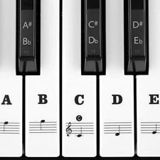 More details for piano stickers for 54 61 76 88 key keyboards transparent and removable full set