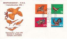 West Berlin 1965 Child Welfare Birds Set FDC Unadressed VGC