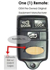 Chevy Logo Keyless Remote 3 Buttons Trunk Icon 10239647 ABO0104T Clicker keyfob