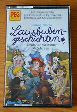 Hörspielkassette LAUSBUBENGESCHICHTEN Ludwig Thoma (PEG/Marcato) MC 1974