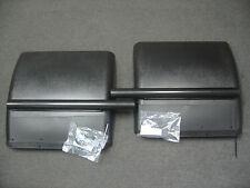 Commercial Semi Truck Black Quarter Fender Set w/ Top Mud Flaps PDC P/N 1900KIT