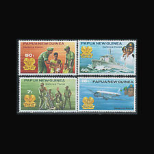 PAPUA NEW GUINEA, Sc #536-39, MNH, 1981, Military, Aircraft, Ships, A5ADD