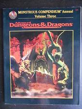 """Manuel """"AD&D - Monstrous compendium annual volume three"""""""