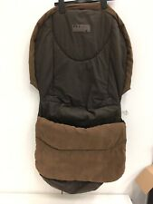 Mamas And Papas Buggy Footmuff: Brown, Black Denim & Leather (faux)