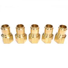 "5pc Foster 75Fpb St Series 3/4"" Female Npt Brass Plug Quick Straight Thru Fst"