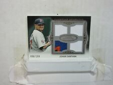 2011 JOHAN SANTANA TOPPS MARQUEE QUAD GU JERSEY PATCH 098/199 NEW YORK METS