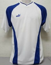 Puma Men's Short-Sleeve White And Blue Jersey