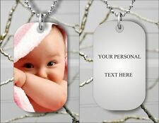 PERSONALIZED CUSTOM PICTURE FOR DOG TAG PENDANT NECKLACE FREE CHAIN -b4t