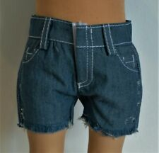 Shorts Pant Denim Frayed For 18 in American Girl Boy Logan Or Girl Doll Clothes