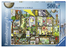 RAVENSBURGER*PUZZLE*500 TEILE*COLIN THOMPSON*TOMORROW'S WORLD*RARITÄT*OVP