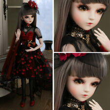 60cm 1/3 Ball Jointed BJD Doll + Face Makeup + Changeable Eyes + Wigs Full Set