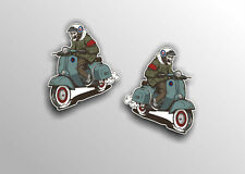 scooter sticker decal WITH MOD TARGET VINYL  CAR VESPA LAMBRETTA #a0000222