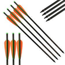 "12X 20"" Carbon Crossbow Bolts Archery Arrows Bow Hunting Moon Nocks"