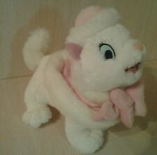 Plush Disney Marie Aristocats White Kitten Cat Big Pink Bow