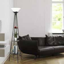 Etagere Floor Lamp 3- Shelf Organizer 9W Led Bulb Alabaster White Glass Shade