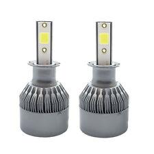 2x COB H3 LED Conversion Kit 36W Fog Light Replacement Bulbs 6000K Xenon White