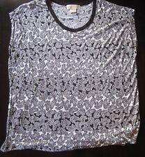 Women's Michael Kor's Black and White Blouse - Plus Size 2X
