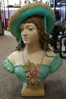 Mid 20th Century Southern Belle Composite Bust Sculpture