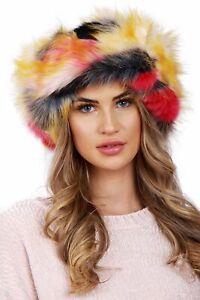 NEW Ladies Faux Fur Hat HeadBand Snood Winter Earwarmer Hat Ski Multifunctional